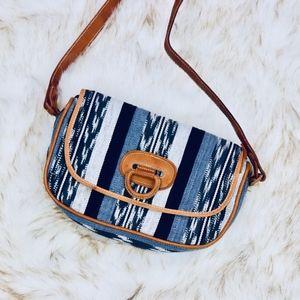 TATA: Woven Crossbody Bag